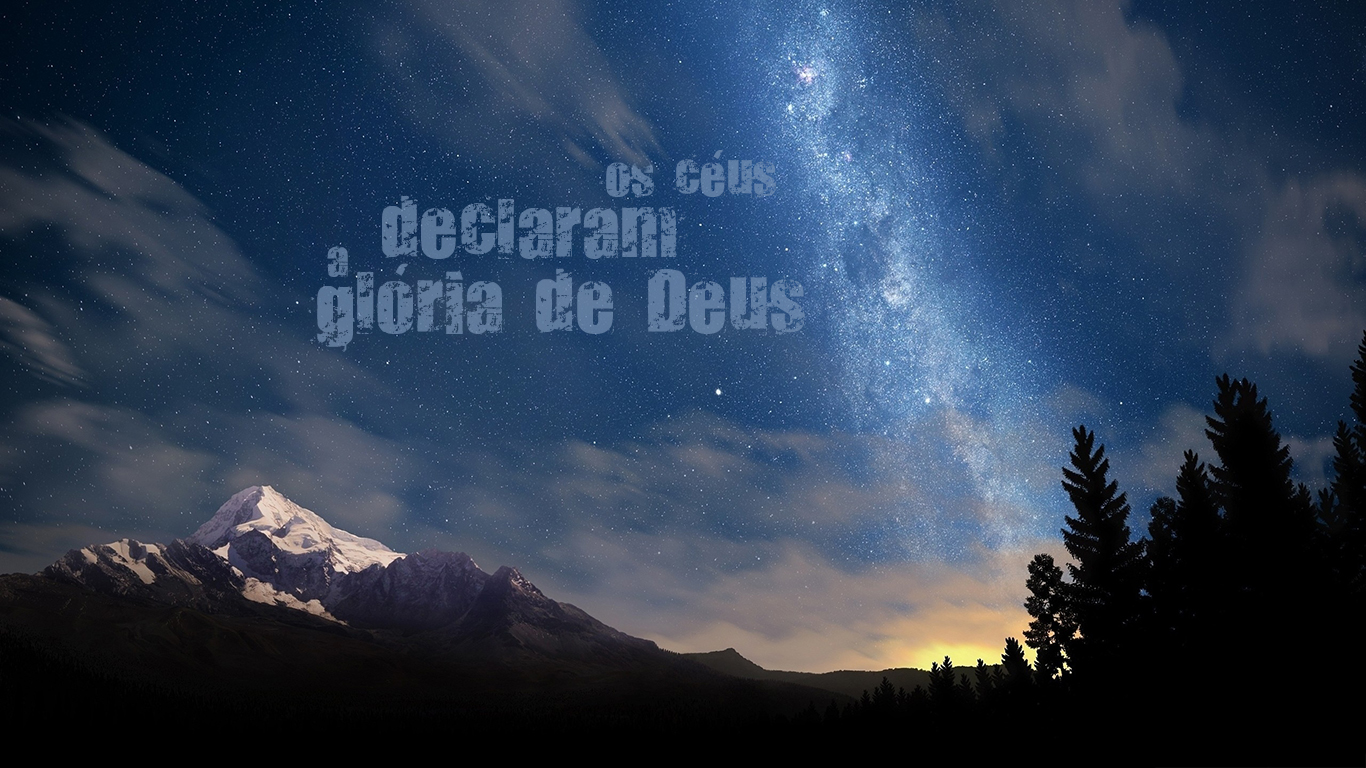 wallpaper cristao hd os céus declaram a glória de Deus_1366x768