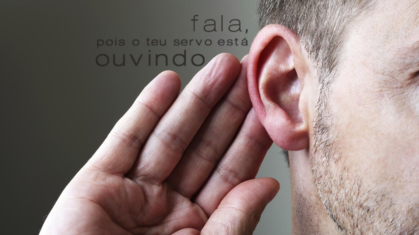 wallpaper cristao hd  fala pois o teu servo está ouvindo mão ouvido_1366x768