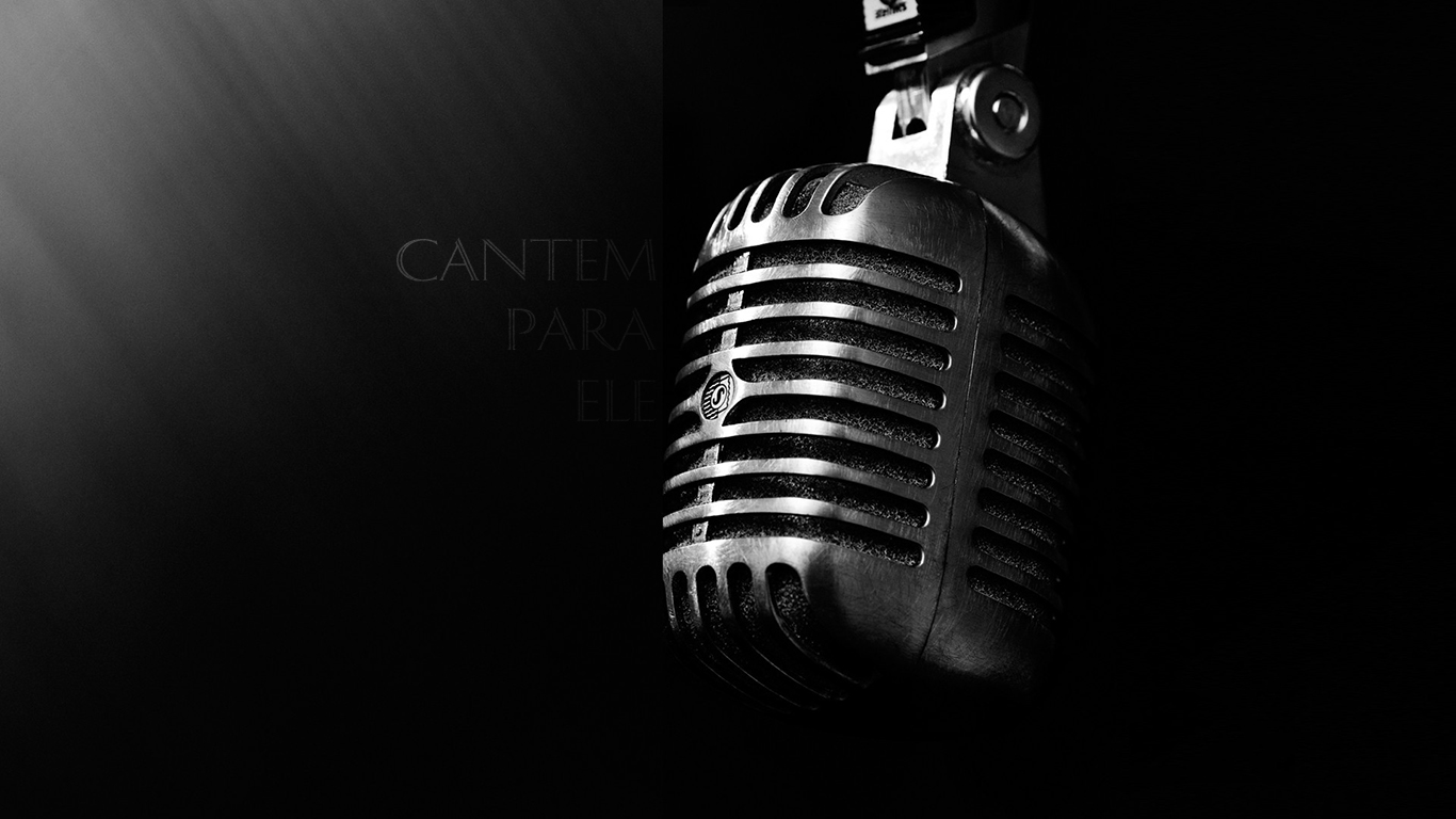 wallpaper cristao hd cantem para ele microfone_1366x768
