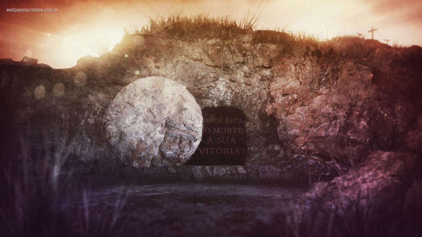 wallpaper cristao onde está, ó morte, a sua vitória_1366x768