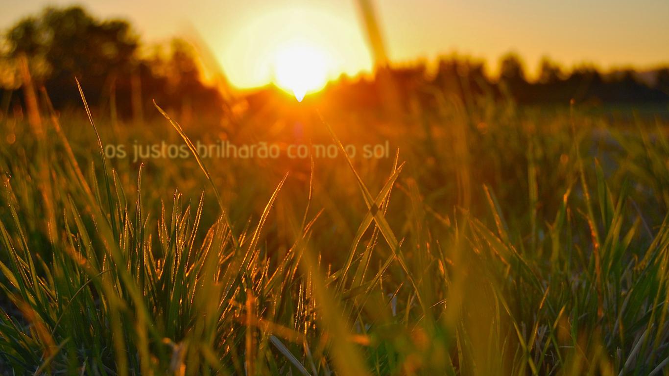 wallpaper cristao hd justos brilharão como sol_1366x768