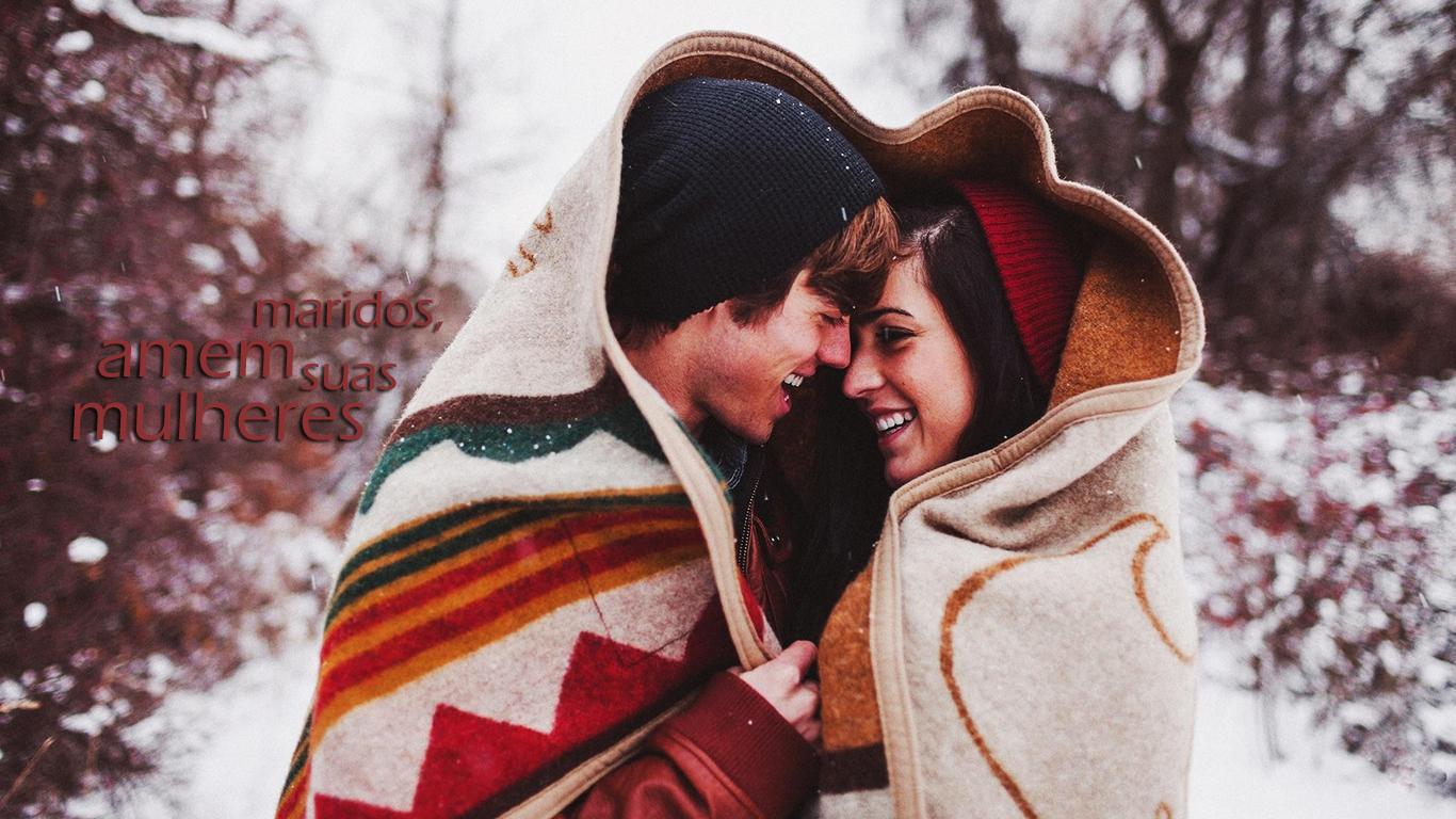 wallpaper cristao hd maridos amem suas mulheres casal neve_1366x768