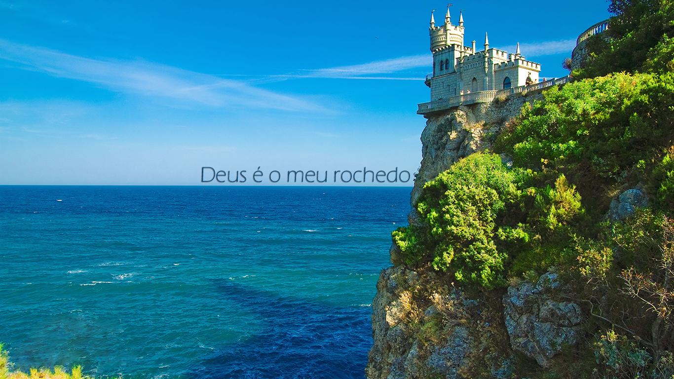 wallpaper cristao hd Deus é o meu rochedo castelo_1366x768