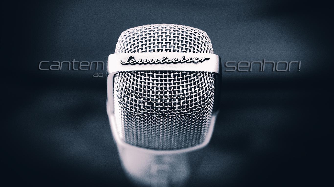 wallpaper cristao hd microfone cantem ao Senhor_1366x768