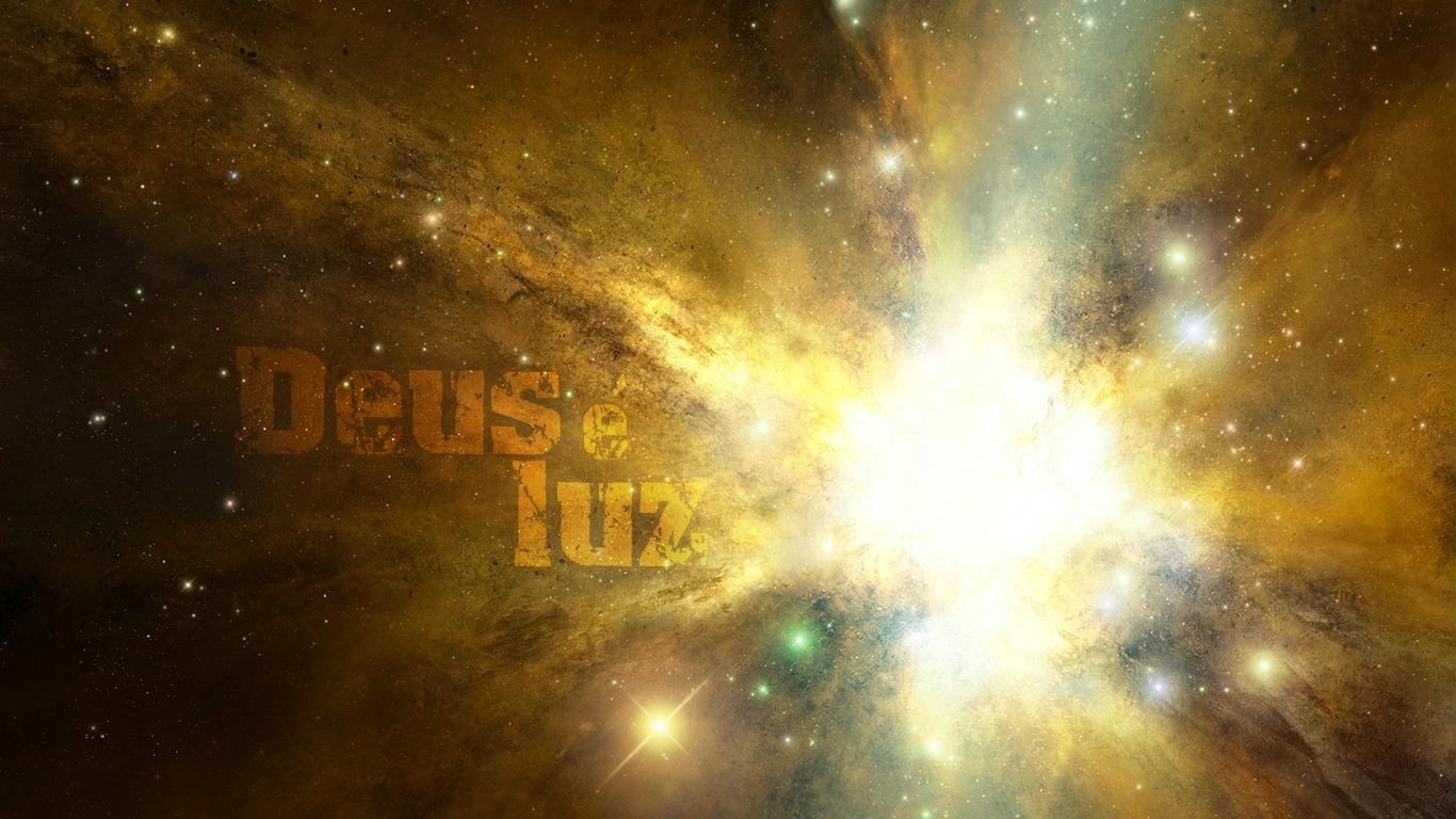 wallpaper cristao Deus é luz nele não há treva alguma universo_1366x768