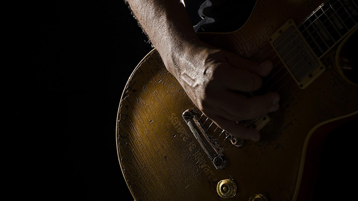 wallpaper cristao hd eu sempre te louvarei guitarra_1366x768