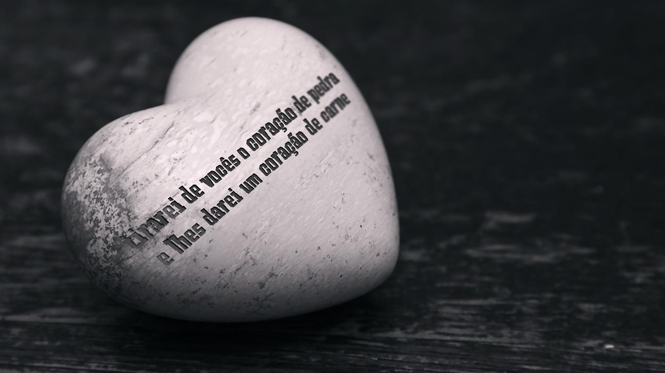 wallpaper cristao tirarei de vocês o coração de pedra e lhes darei um coração de carne_1366x768