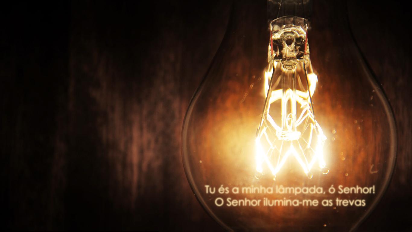 wallpaper cristao hd Tu és minha lâmpada Senhor ilumina trevas_1366x768