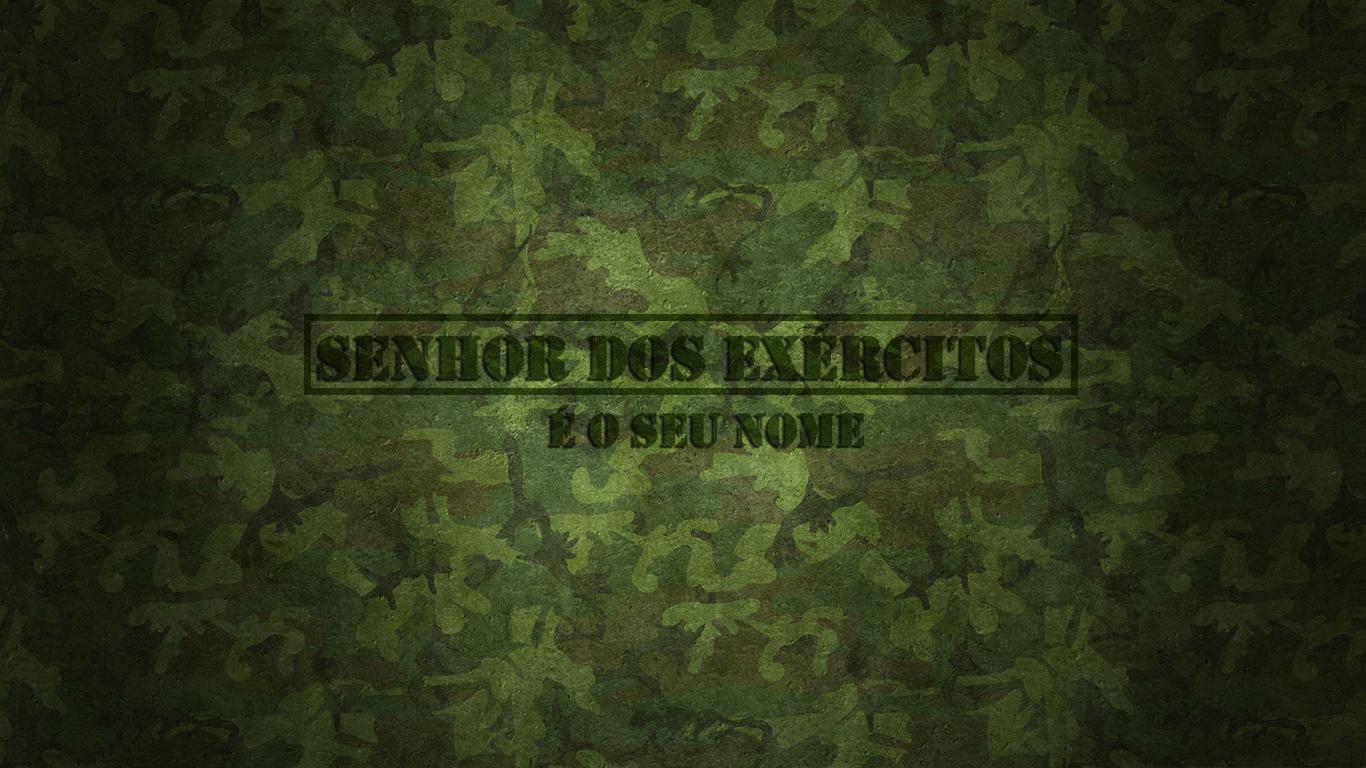 wallpaper cristao hd SENHOR dos Exércitos é o seu nome_1366x768