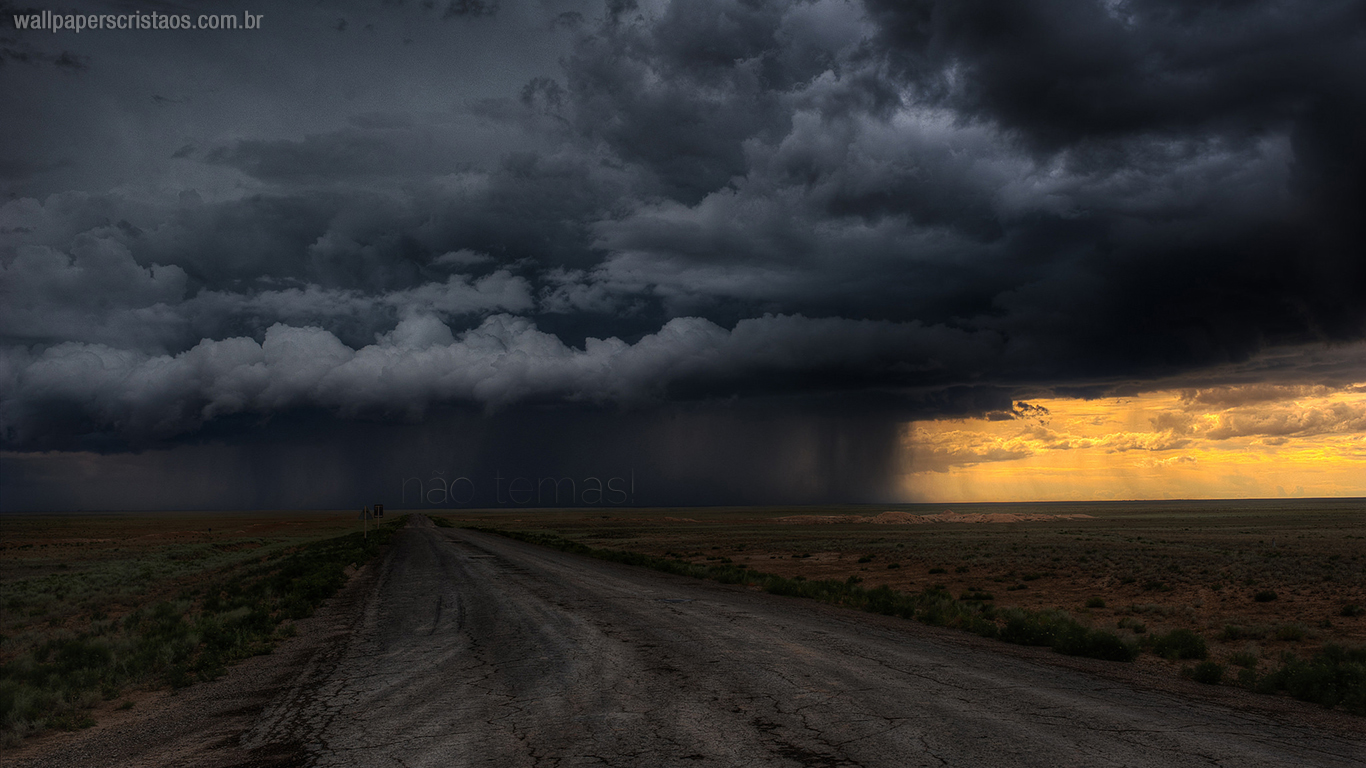 wallpaper cristao hd nao temas estrada tempestade_1366x768