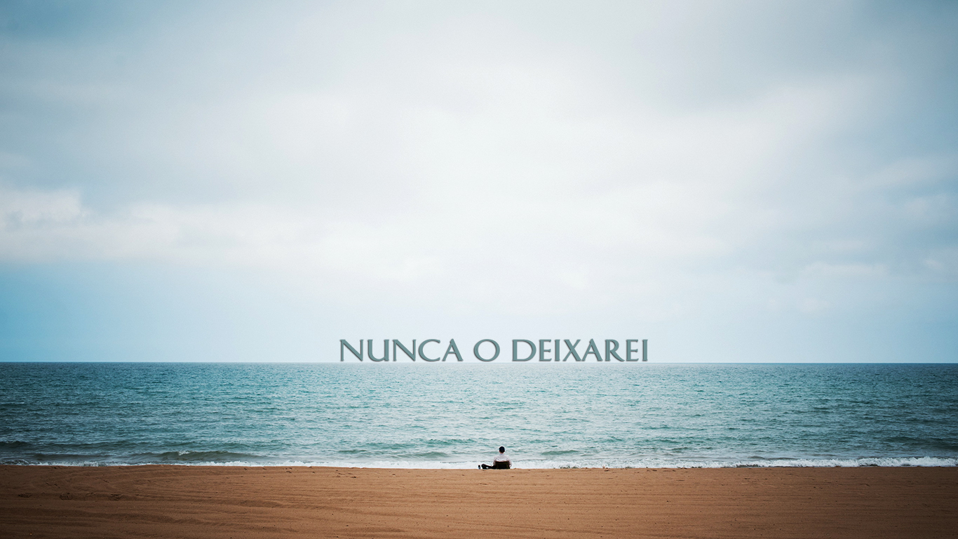 wallpaper cristao hd nunca deixarei mar_1366x768