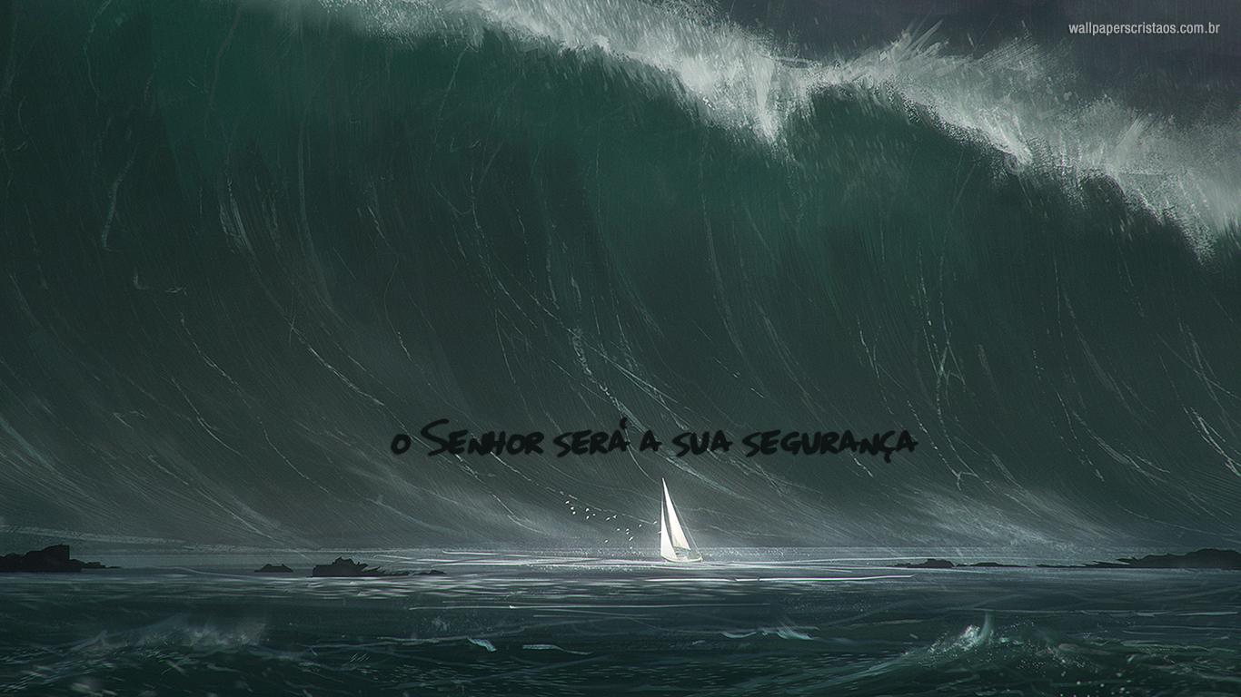 wallpaper cristao hd Senhor será segurança barco_1366x768