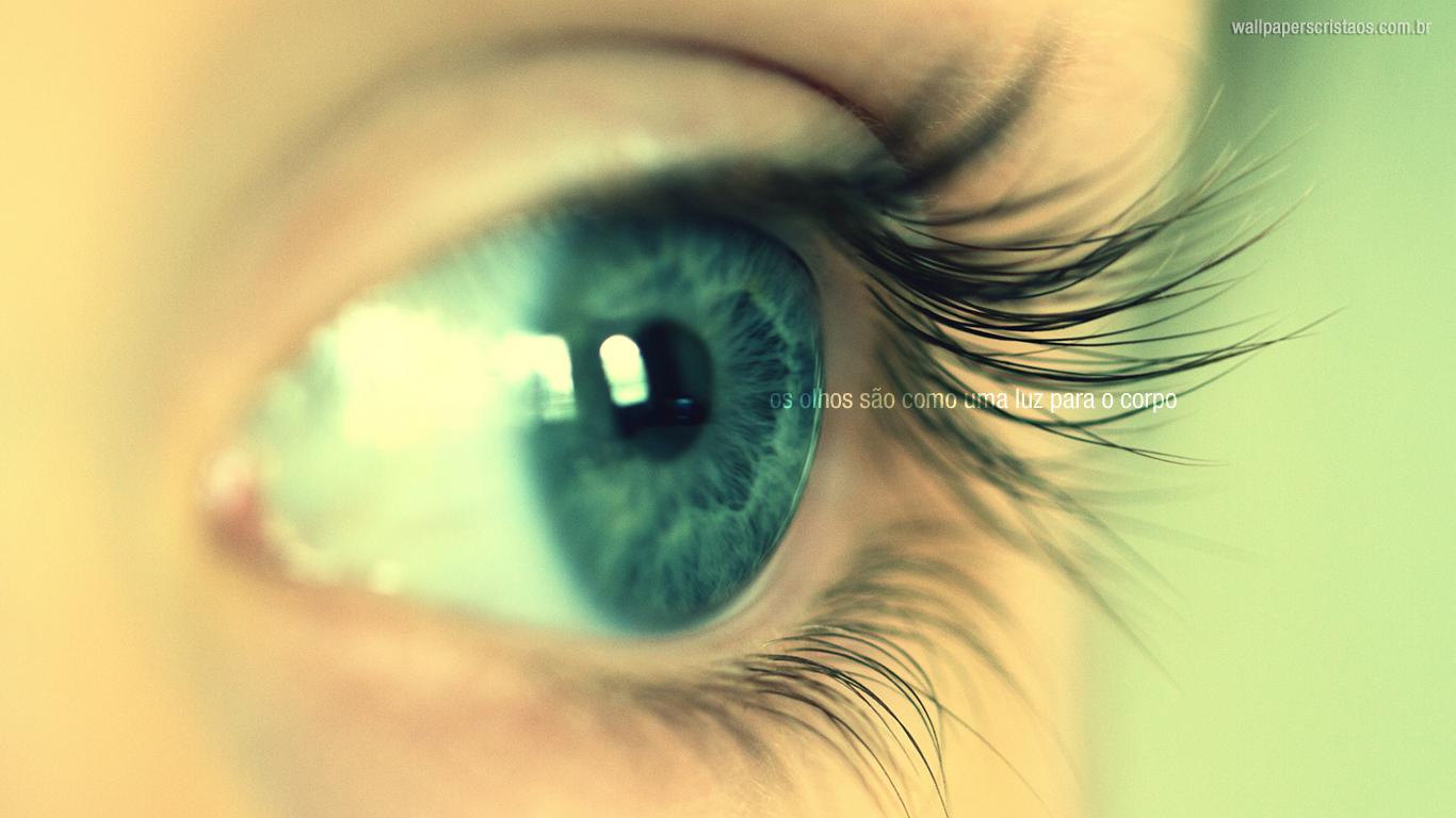wallpaper cristao hd olhos são como uma luz para corpo_1366x768