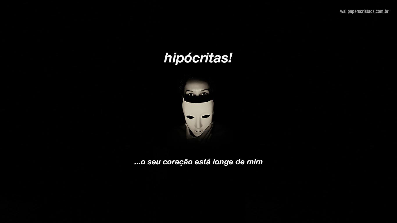 wallpaper cristao hipócritas máscara_1366x768